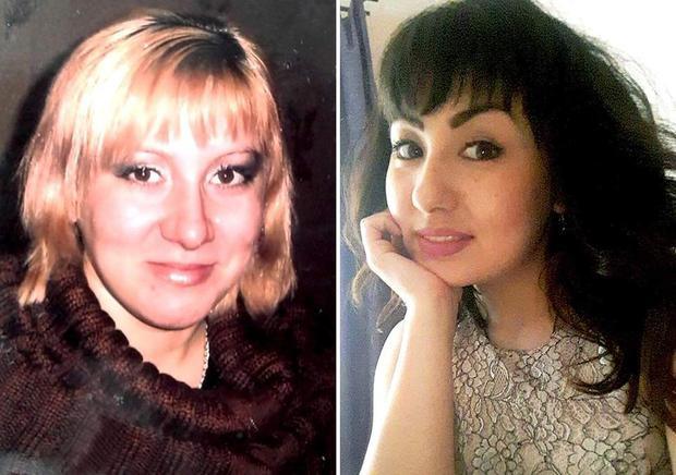 Katya Tuganova (phải) và Luciya Tuligenova (trái) bị trao nhầm tại bệnh viện năm 1987 khiến cho điều kiện sống của 2 cô gái có sự hoán đổi vô cùng lớn. Ảnh: Evening Standard