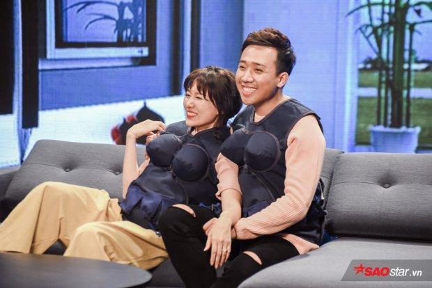Hari Won - Trấn Thành thu về một lượng fan lớn khi tham gia Khi đàn ông mang bầu.