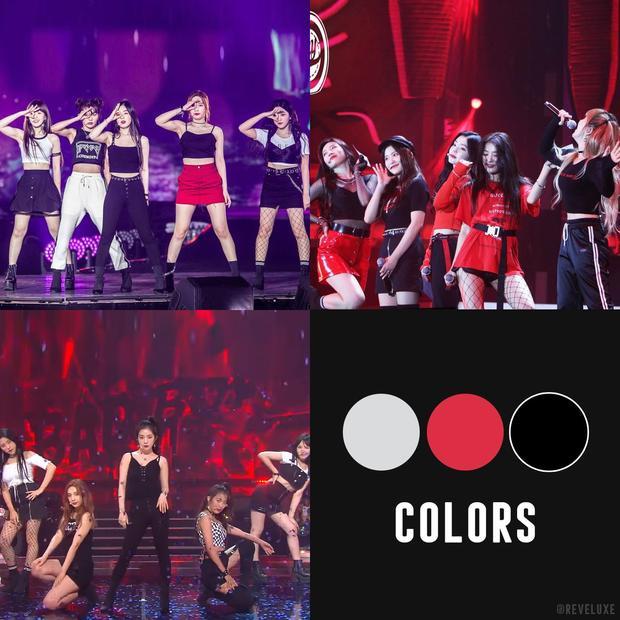 """Trang phục, thiết kế sân khấu chuẩn trò """"đỏ đen""""."""