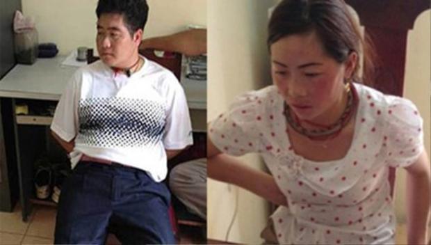 Tráng A Tàng và vợ Giàng Thị Sua. Ảnh: CAND.