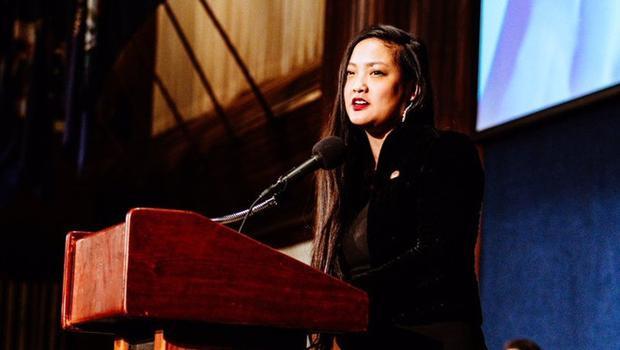 Nhà hoạt động Mỹ gốc Việt Amanda Nguyen Ảnh: The Boston Globe.