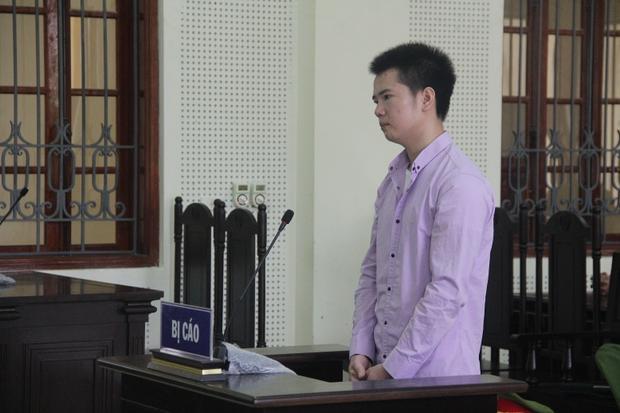 Bị cáo Minh tại phiên tòa.