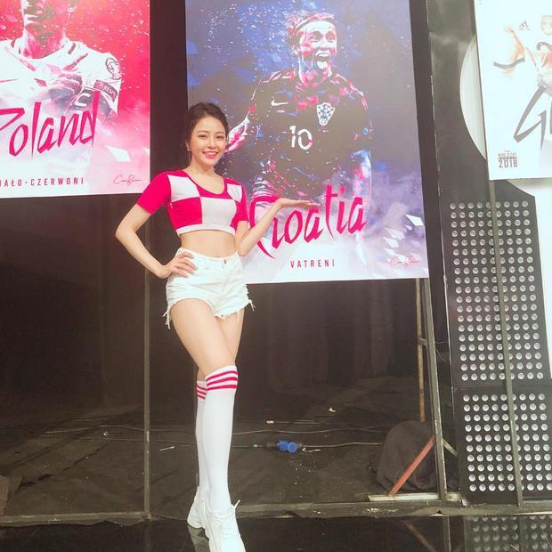 Trâm Anh đồng hành cùng World Cup 2018 của VTV với vai trò đại diện cho tuyển Croatia. Cô rất tin tưởng vào đội bóng của mình đại diện sẽ vô địch.