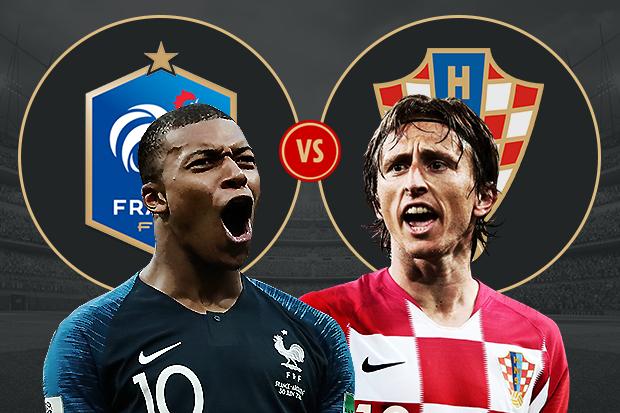 Pháp sẽ gặp Croatia trong trận chung kết World Cup 2018 trên sận vận động Luzhniki.