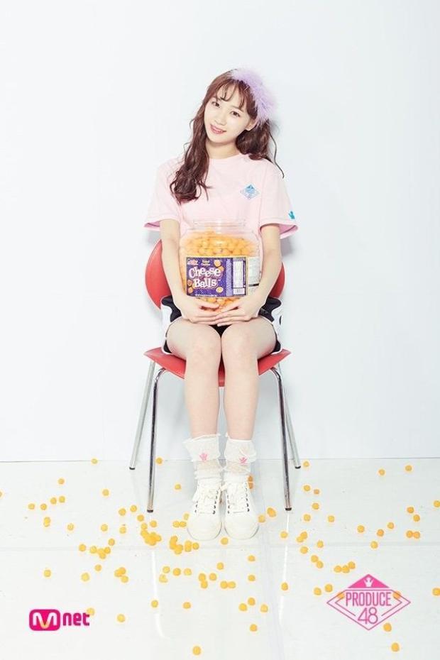"""Hang 6 - Kim Chaewon, tuy không phải là một thí sinh nổi bật nhưng Chaewon vẫn khiến các cô gái khác phải """"dè chừng"""" vì nhan sắc trời cho."""