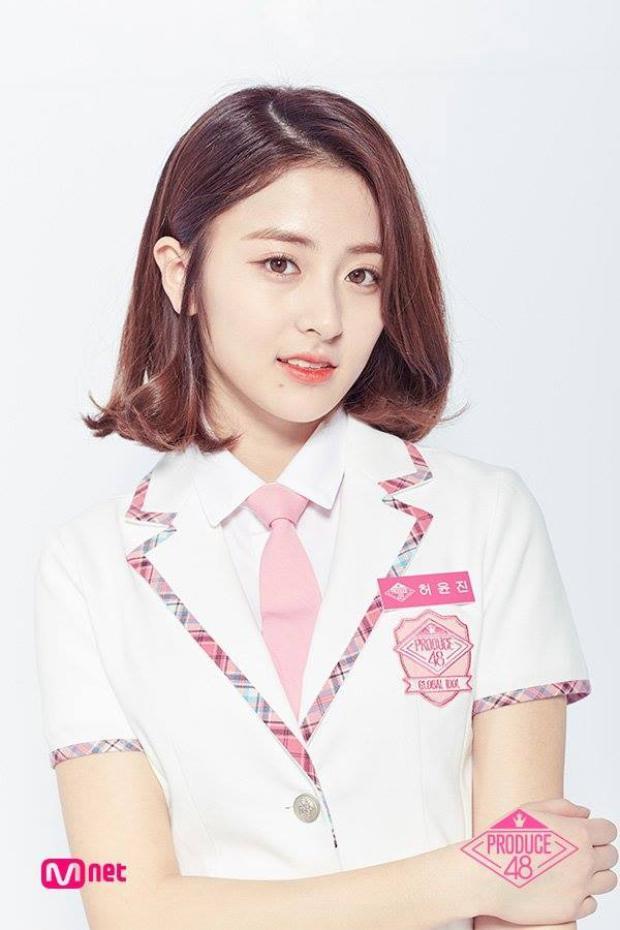 Hạng 3 - Heo YoonJin, cô nàng tuy là người Hàn chính gốc nhưng lại sở hữu một vẻ đẹp lai Tây, đặc biệt là màu mắt vô cùng thu hút.