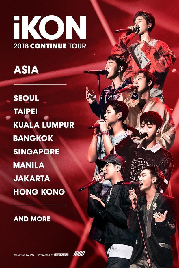 Continue Tour với lịch trình trước mắt tại các nước châu Á.