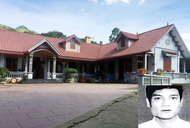 Ngôi nhà khang trang nhất vùng quê Yên Trung mà Nguyễn Thanh Tuân xây dựng. Ảnh: Dân Trí.