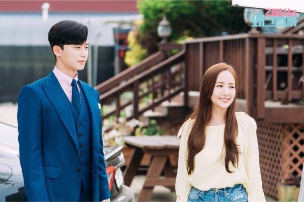 """Park Seo Joon và Park Min Young trong """"Thư ký Kim sao thế?""""."""