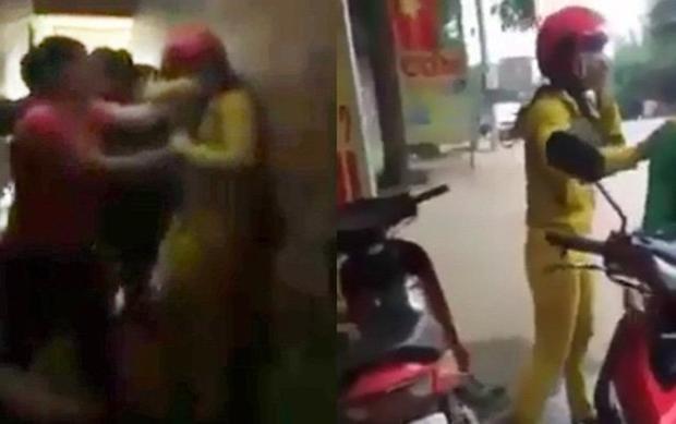 Hình ảnh cắt ra từ clip ghi lại vụ việc.