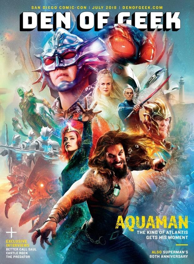 'Aquaman' tung bìa tạp chí đẹp long lanh, khoe toàn bộ dàn diễn viên siêu ấn tượng