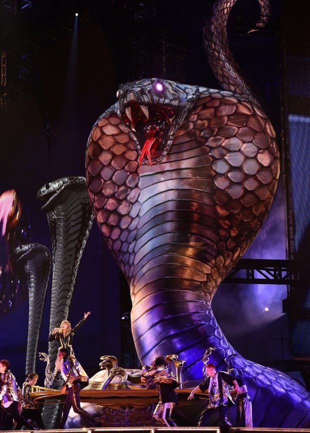 Từ mô hình rắn hổ mang khổng lồ cao hàng chục mét trên sân khấu chính