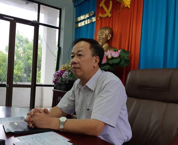 Ông Trần Quốc Tuấn, Giám đốc Sở GD&ĐT tỉnh Lạng Sơn thông tin vụ việc.