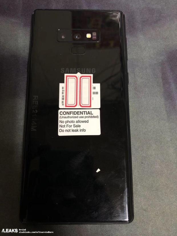 Samsung Galaxy Note9 lần đầu lộ diện rõ nét trước ống kính