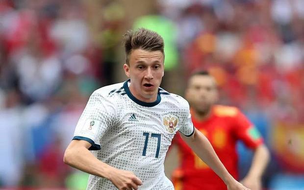 Golovin vừa có một kỳ World Cup tuyệt vời. Ảnh: Fifa.com.