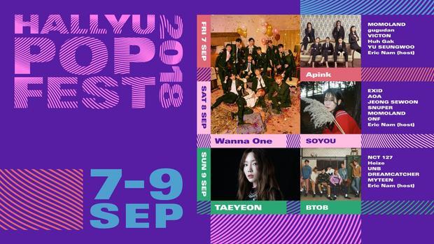 Poster chính thức của Hallyu Pop Fest.