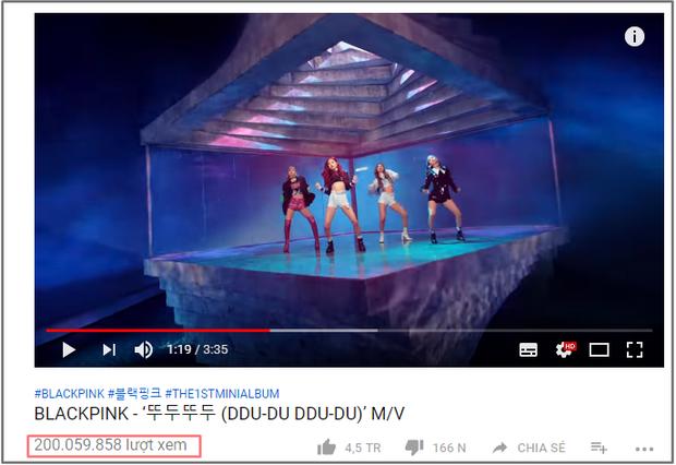 MV DDU-DU DDU-DU chạm mốc 200 triệu lượt xem.