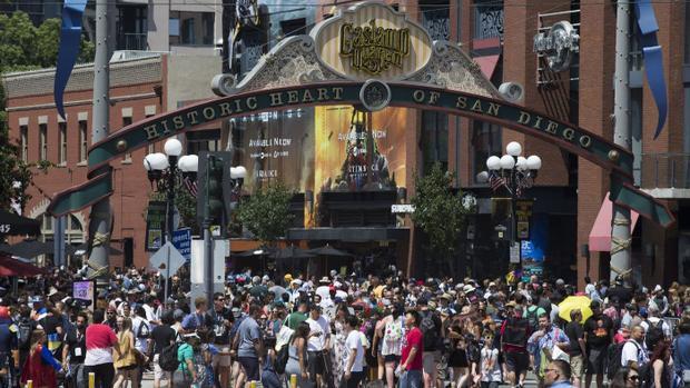 Buổi triển lãm Comic Con 2018 diễn ra tại San Diego quy tụ đông đảo khách tham quan.