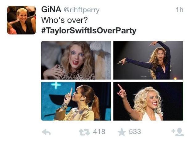 Những ngày ấy không khó để bắt gặp những hình ảnh như thế này kèm dòng hashtag #Taylorisoverparty