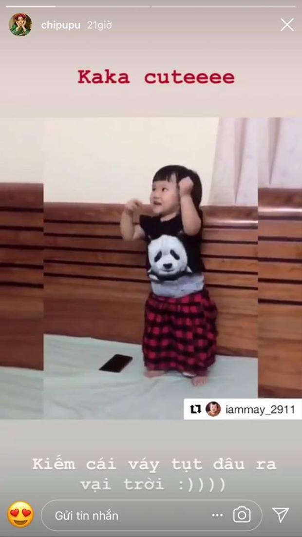 Chi Pu hạnh phúc chia sẻ trên Instagram cá nhân khi có fan nhí siêu đáng yêu.