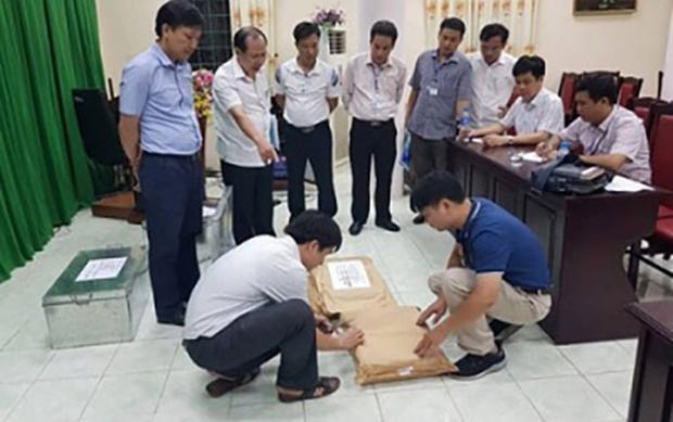 Các đơn vị rà soát công tác chấm thi tại Hà Giang.