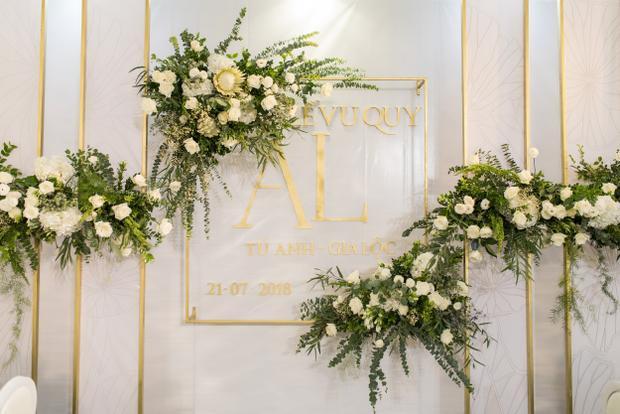 Không gian đẳng cấp trong đám cưới của Á hậu Việt Nam.