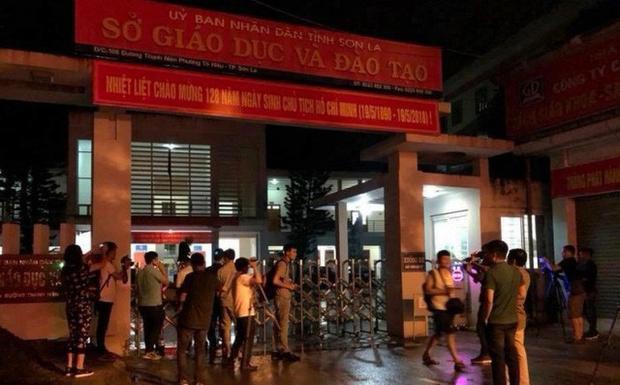 Bên ngoài trụ sở Sở GD&ĐT Sơn La. Ảnh Thời Đại.