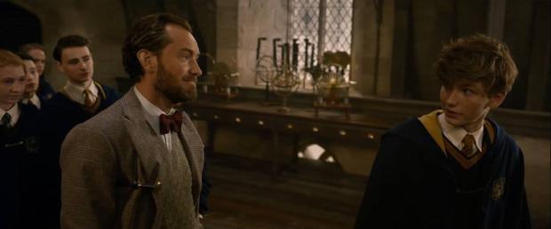 Giáo sư Dumbledore hướng dẫn cậu học trò Newt.
