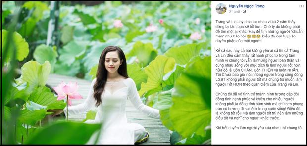 Sau phát ngôn gây tranh cãi, MC Ngọc Trang lên tiếng giải thích và gửi lời xin lỗi đến Lin Jay