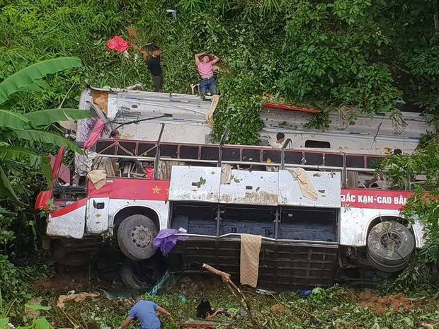 Hiện trường vụ tai nạn xe thảm khốc ở Cao Bằng.