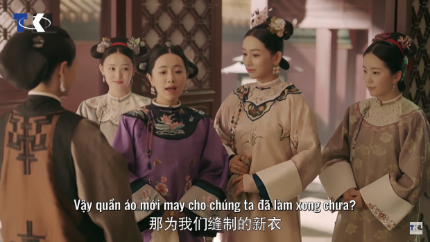 Thư Quý nhân và Khánh Thường tại đến Tú phòng.