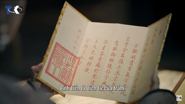 Sắc phong của Hoàng đế phong Nhị A ca Vĩnh Liễn làm Hoàng Thái tử.