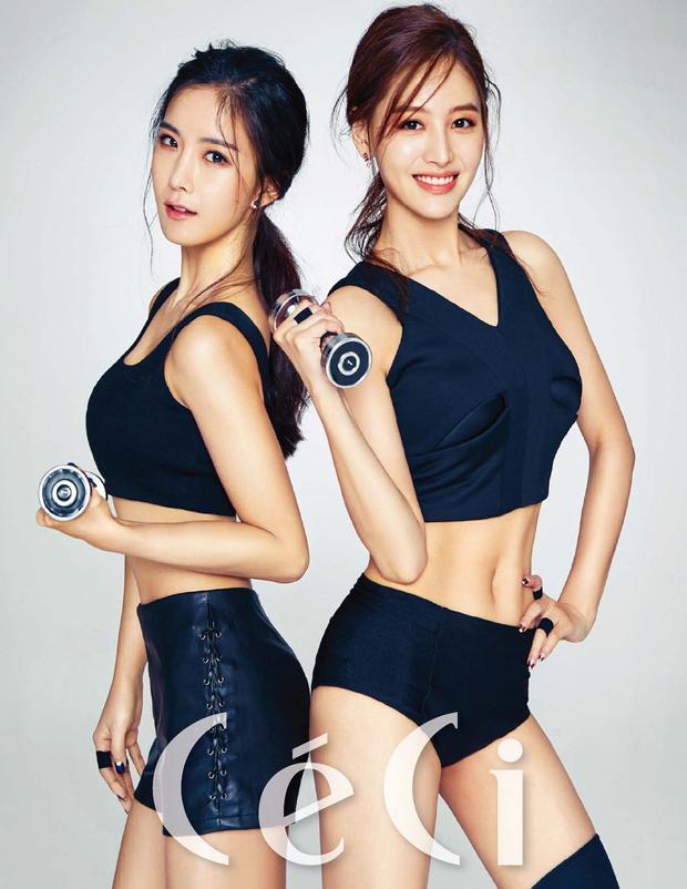 """Jaekyung và Hyunyoung (Rainbow): Hình ảnh này từng bị chỉ trích bởi nó """"tô vẽ"""" lên hình ảnh khiến người xem cảm thấy mình quá béo (hai nhân vật chính trong hình quá gầy). Phần ngực của nhân vật trong hình ảnh này dường như được chỉnh tăng kích thước trong khi đó bụng lại được bóp vào."""