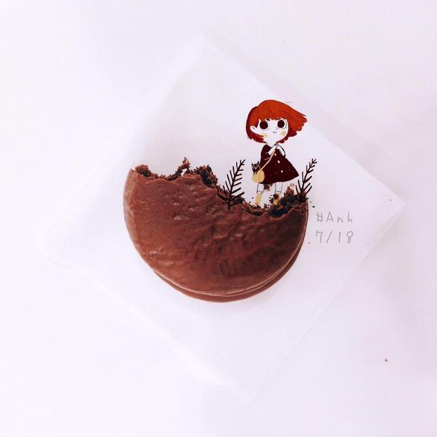 Ăn bánh cũng sáng tạo nghệ thuật được… Ảnh: Ying Ying Yun.