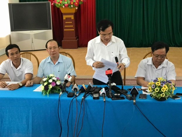 Ông Mai Văn Trinh thông tin với báo chí. Ảnh: Định Nguyễn.