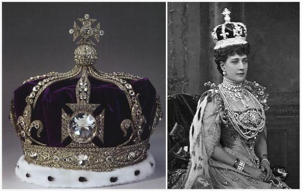 Viên kim cương trên đỉnh vương miện của Nữ hoàng Anh. Ảnh: Independent