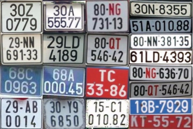 Sự thật thú vị đằng sau màu sắc của các loại biển số xe tại Việt Nam