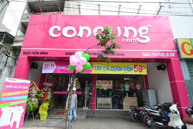 Một trong những cửa hàng của chuỗi siêu thị Con Cưng. Ảnh: Zing.vn.