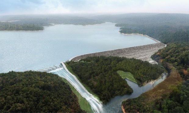 Đập thủy điện Xe Pian-Xe Namnoy cao 73 mét và dung tích khoảng 1 tỷ m3. Hiện đập thủy điện Xe Pian-Xe Namnoy chưa đi vào hoạt động.Ảnh: Attapeu Today.