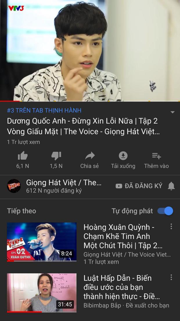 """Alex Dương cũng là nhân tố tiếp theo """"giành"""" được vị trí cao trên Youtube trending sau khi tập 2 lên sóng."""