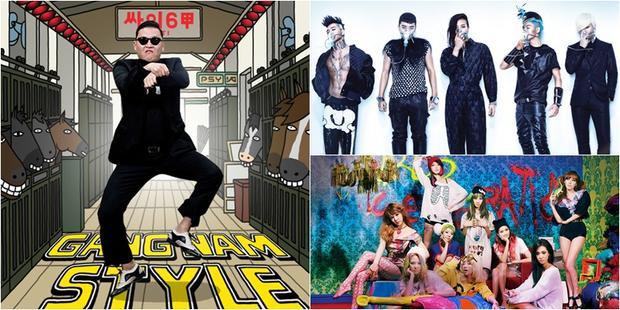 Chỉ có PSY, Big Bang, SNSD là nghệ sĩ Kpop góp mặt trong danh sách.