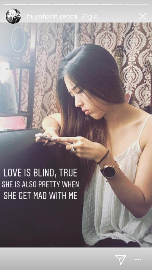 Huỳnh Anh chia sẻ hình ảnh bạn gái trên trang cá nhân với dòng chú thích tình cảm.