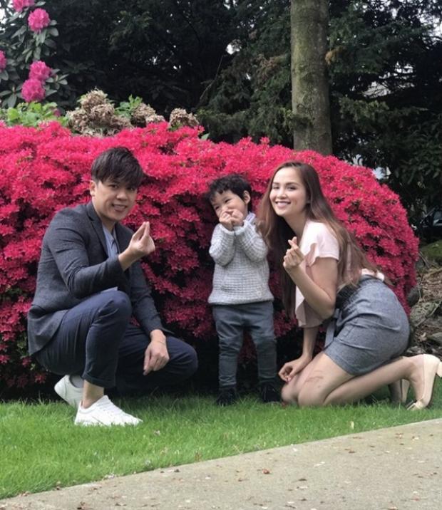 Gia đình nhỏ hạnh phúc của Diễm hương và Quang Huy.