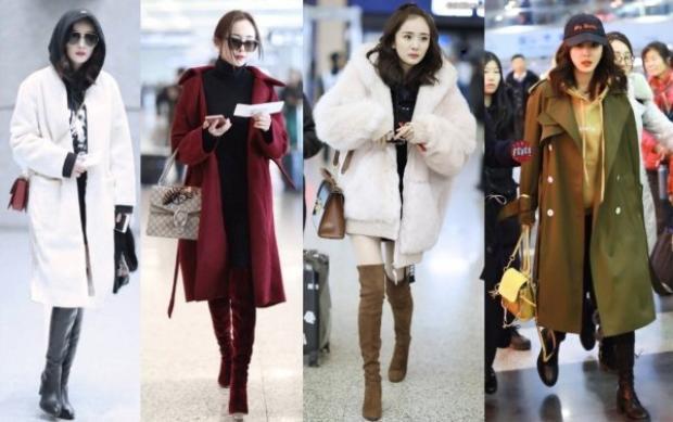 Dù mùa đông trời trở lạnh và phải mặc những trang phục có phần cồng kềnh hơn nhưng bà mẹ 1 con vẫn chứng tỏ được độ sành điệu của mình qua những set đồ giữ ấm dày dặn. Nhìn thế này thì người ta cũng đủ hiểu vì sao người đẹp được mệnh danh là nữ hoàng sân bay rồi nhỉ.