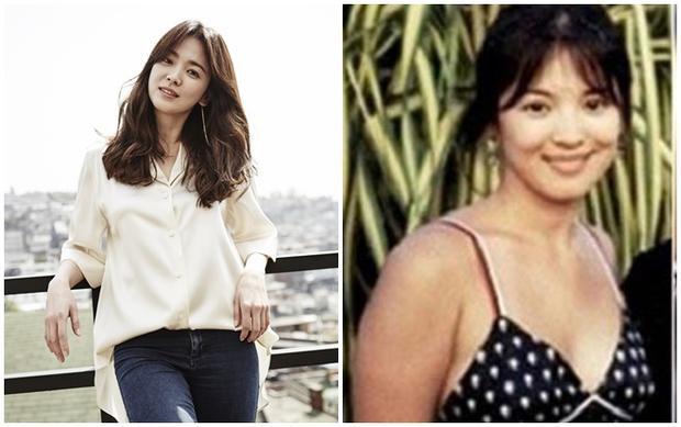 Song Hye Kyo hiện tại và lúc nặng 70kg trong những năm ở tuổi dậy thì. Cô cho biết, cô thuộc tạng người dễ tăng cân và để có vóc dáng hiện tại, người đẹp đã phải trải qua quá trình kiên trì giảm cân khắc nghiệt.