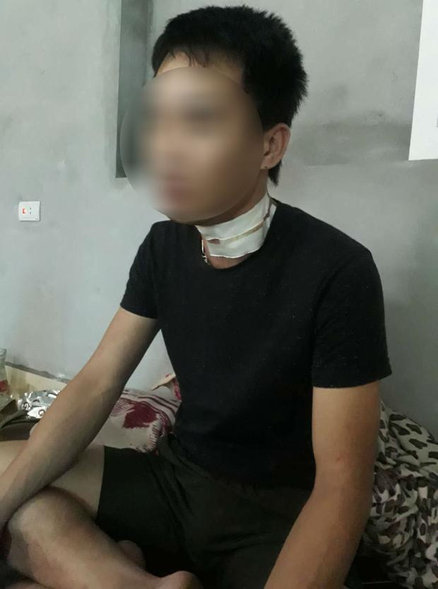 Anh T. bị chấn thương sau khi vụ việc xảy ra.