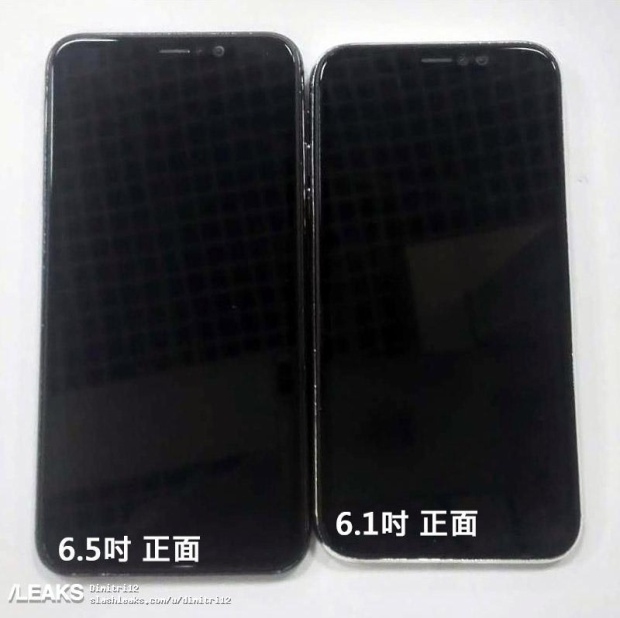 Hai chiếc điện thoại này có thiết kế tương tự nhau, tuy nhiên sự khác biệt lớn nằm ở chỗ iPhone X Plus (6,5 inch) sử dụng màn hình OLED còn iPhone (6,1 inch) có màn hình LCD.