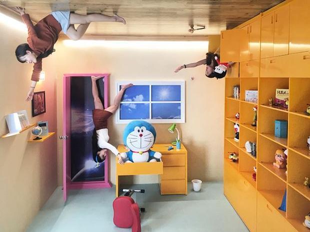 Phòng học của Noobita cùng hộc tủ thần kì của Đoraemon
