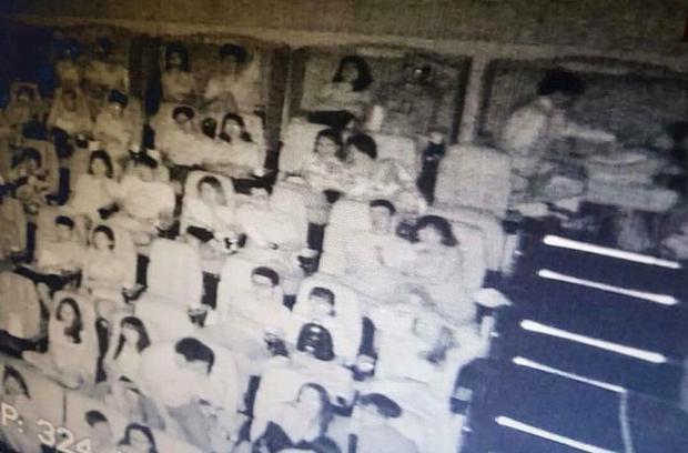 Hình ảnh cặp đôi trong rạp CGV. (ẢnhBáo Pháp luật TP Hồ Chí Minh).