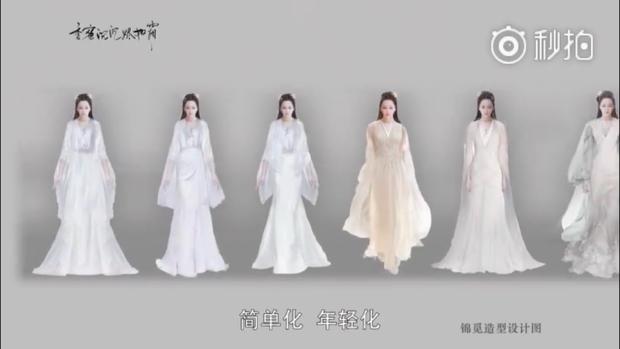Một số mẫu trang phục của nhân vật Cẩm Mịch trong phim